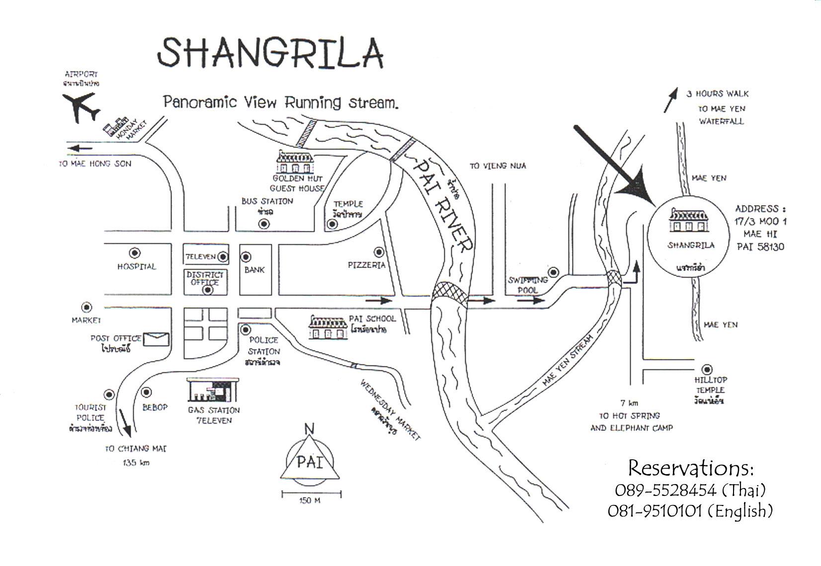 Map to the detox center at Shangrila resort